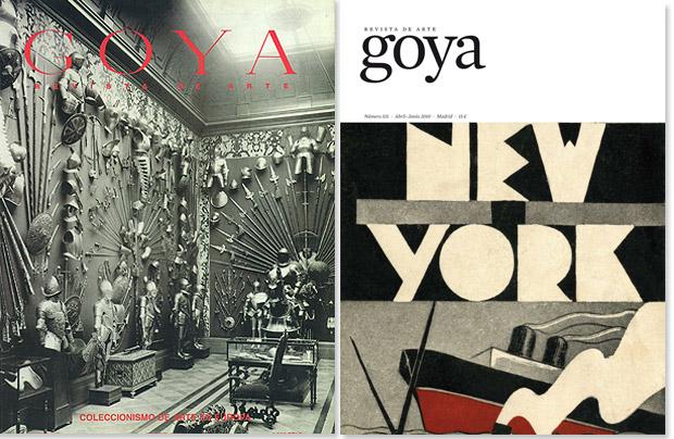 Portadas históricas de la revista de arte GOYA