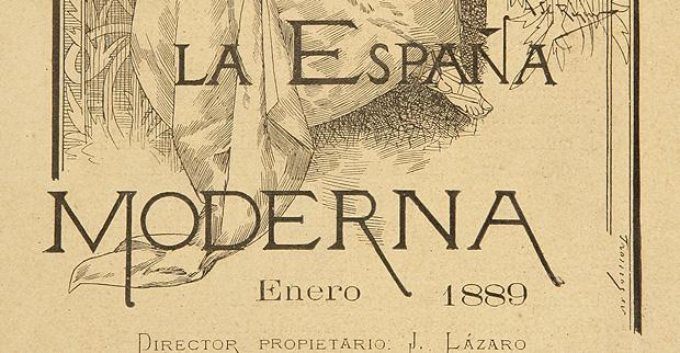 Detalle de la portada de la revista España Moderna. FLG